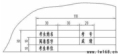 二维cad工程师考试试卷(autocad机械设计)|机械制图