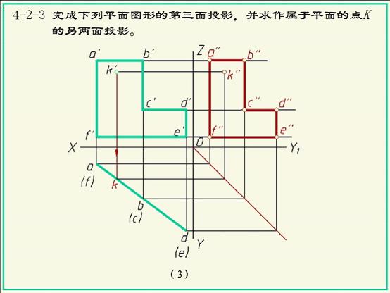 画法几何及机械制图第四版习题参考答案