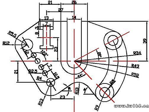 几个较复杂的cad练习图