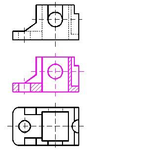 机械制图半剖视图_机械制图剖视图习题-