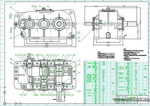 浩辰CAD2011机械 十七 减速器装配图