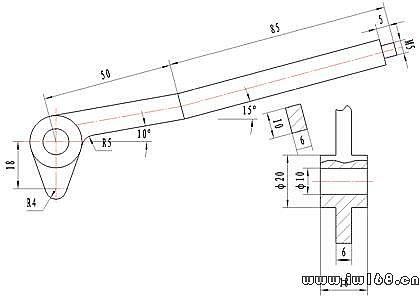 三维实体设计上机测试试 卷     下列图1~5所示是某一型号的手压阀图片